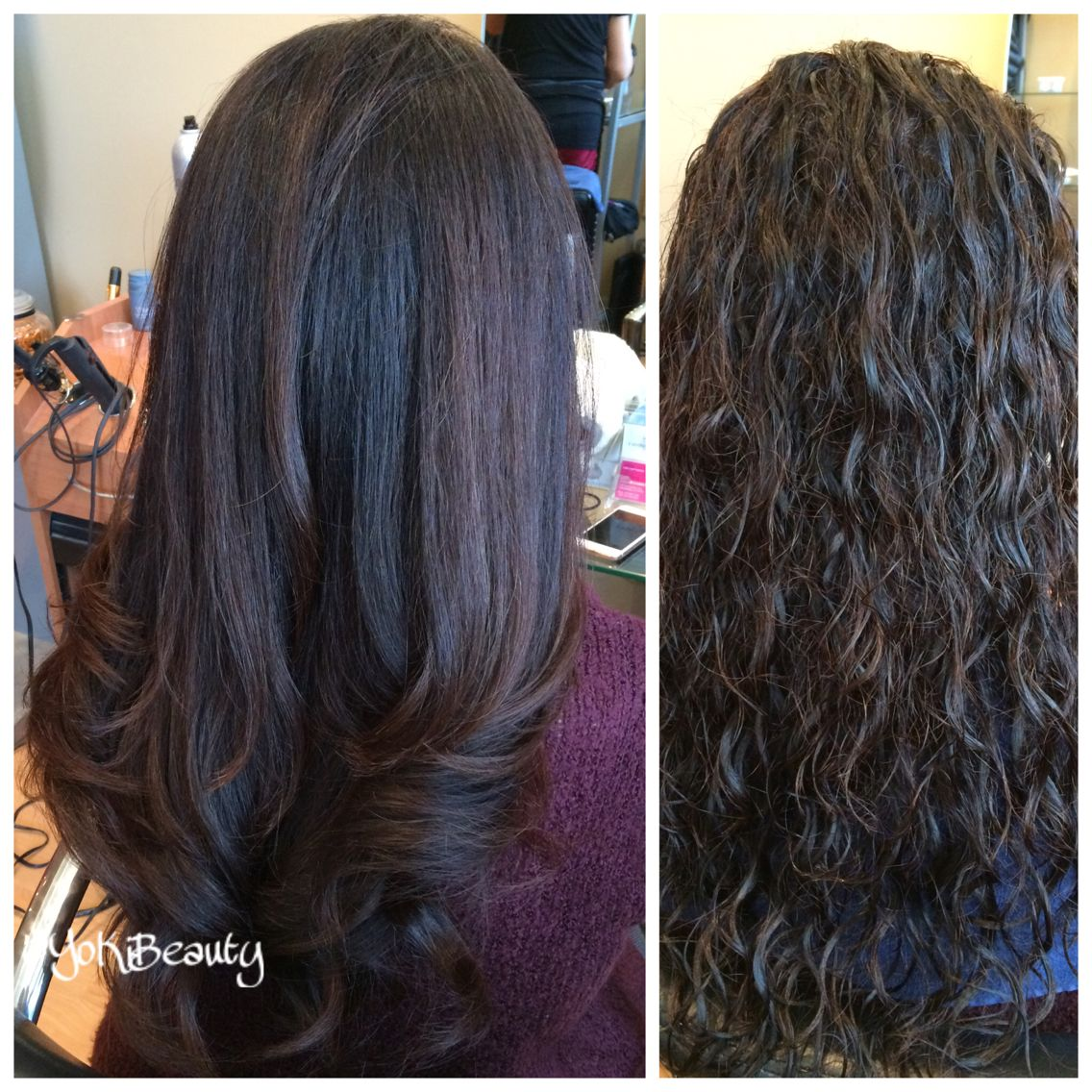 Before And After Just A Round Brush And Blow Dryer Long Hair Styles Hair Styles Blow Dry