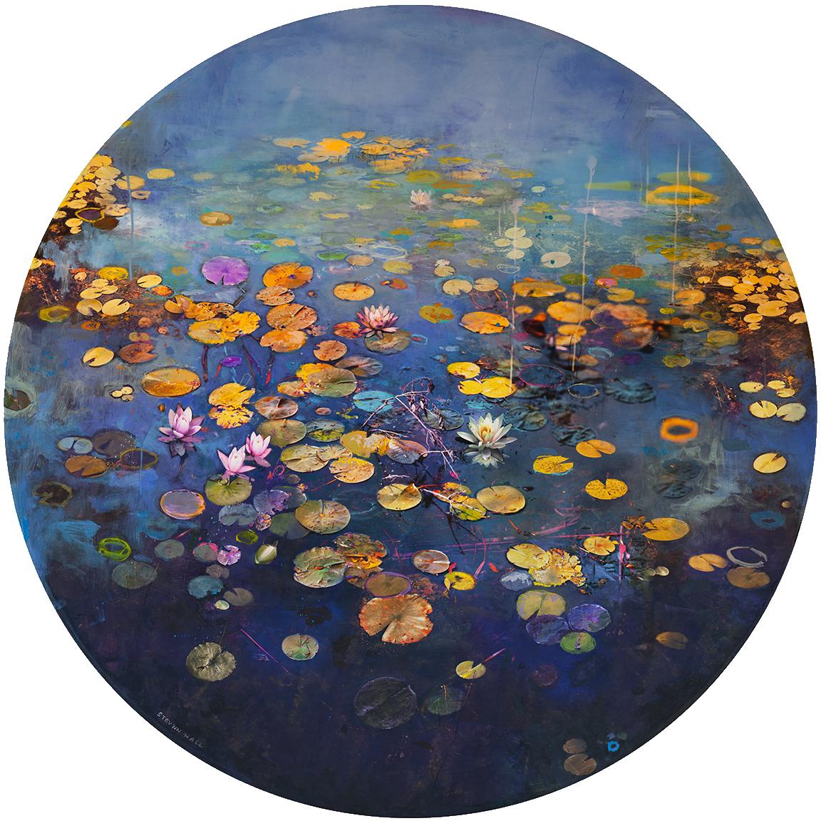 Stevnnhall Paradise Lost No 2 48x48 Canada 2017 Photography Based Mixed Media Circular Tondo O Nature Art Painting Canvas Painting Designs Art Painting