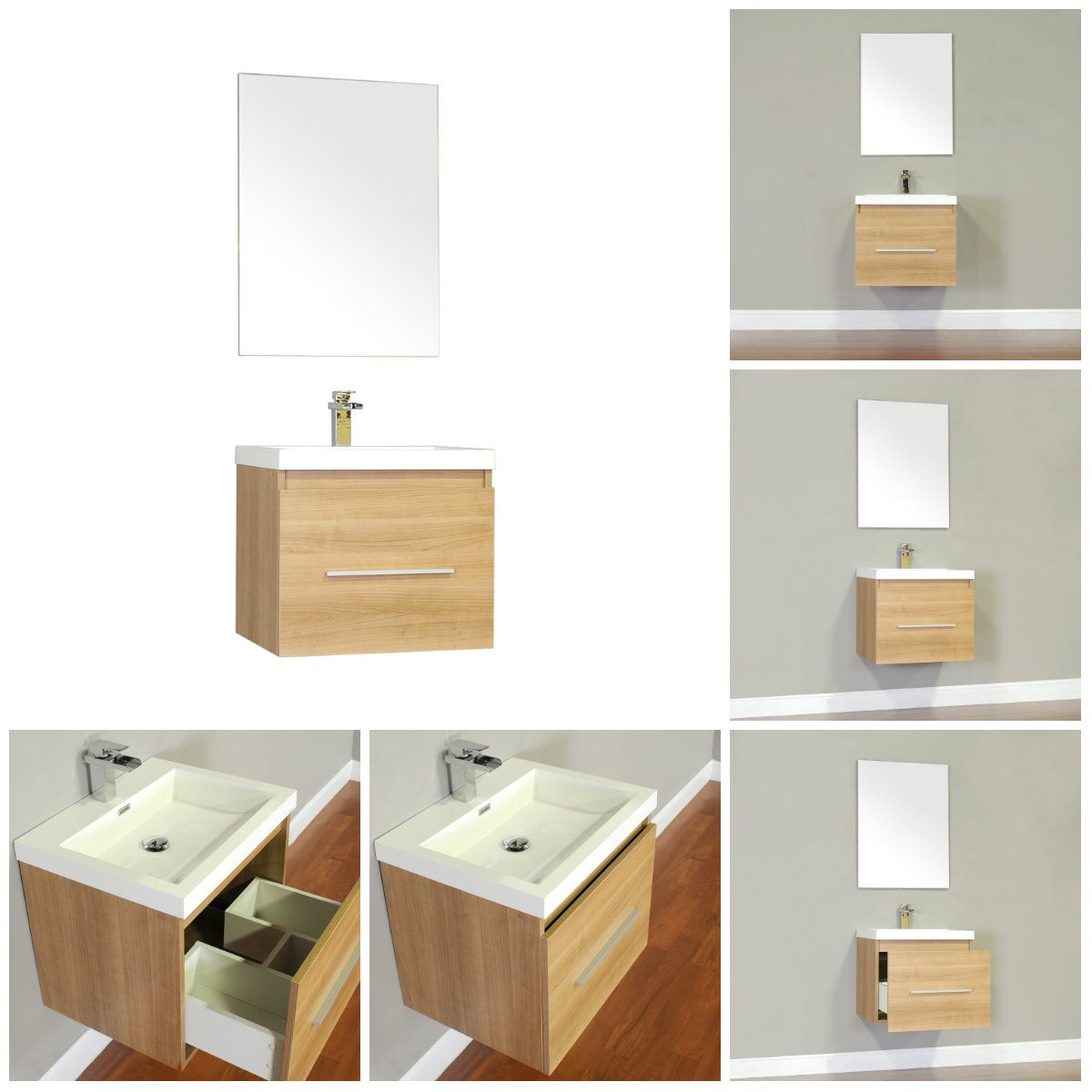 """Ripley Collection 24"""" single vanity features a soft closing pull out ..."""