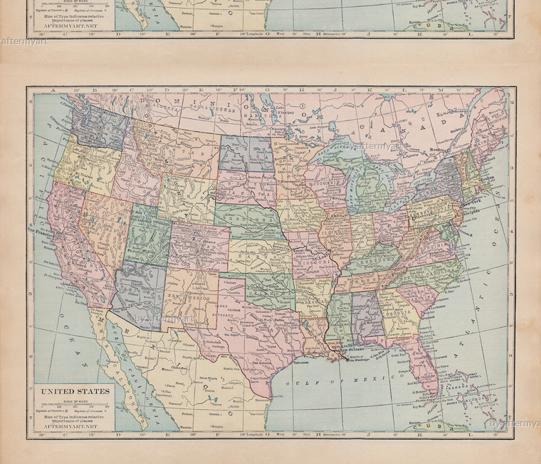 united states map fabric Colorful Fabrics Digitally Printed By Spoonflower Us Map One