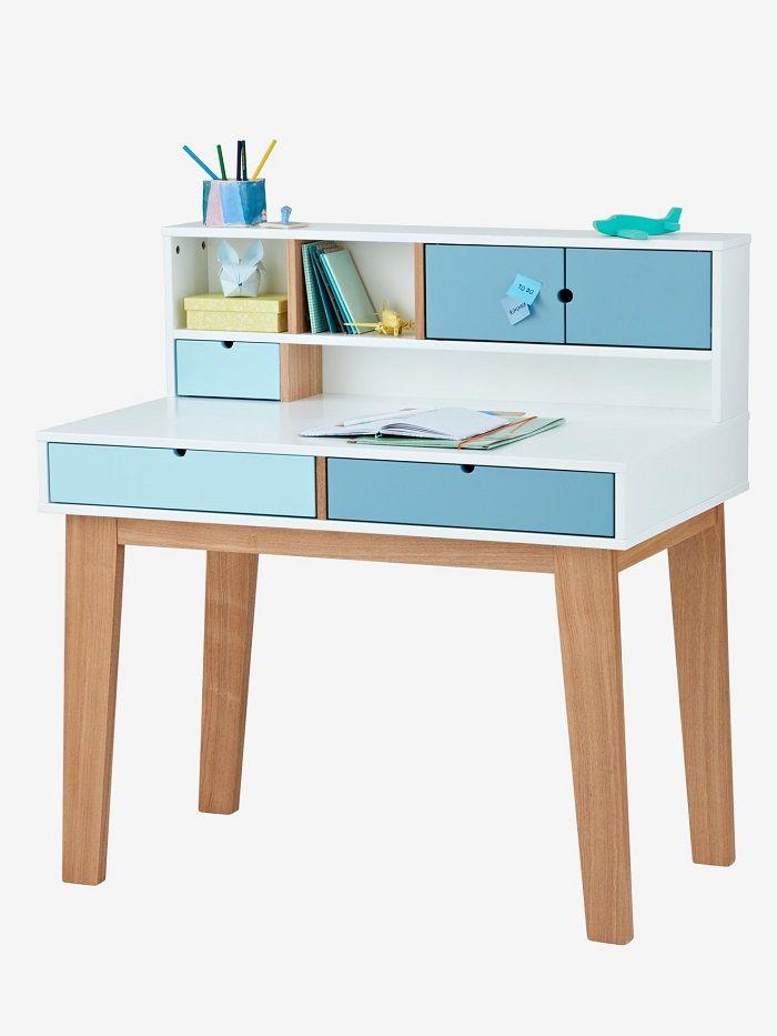 bureau primaire ligne oslo blanc pas cher bureau enfant. Black Bedroom Furniture Sets. Home Design Ideas