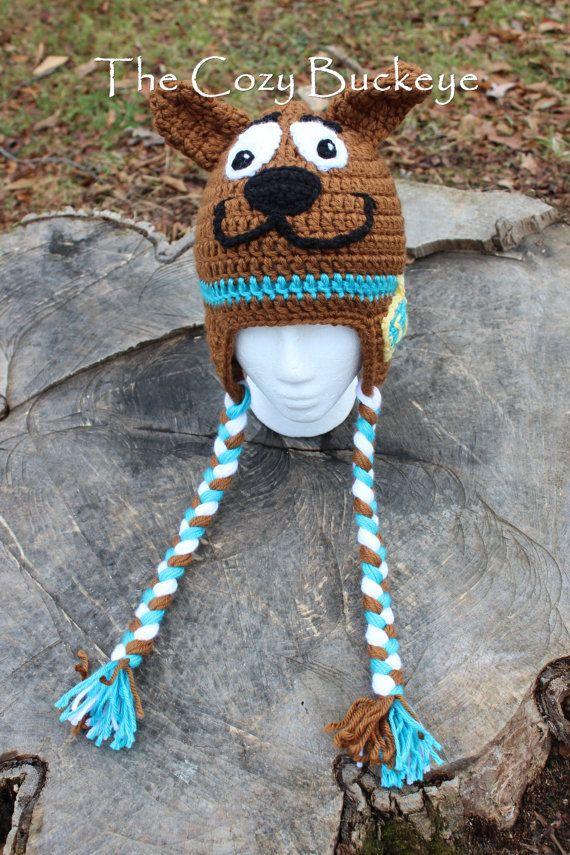 Scooby Doo Hat Crochet Hat Character Hat Halloween Costume Sizes ... a0f7d19890de