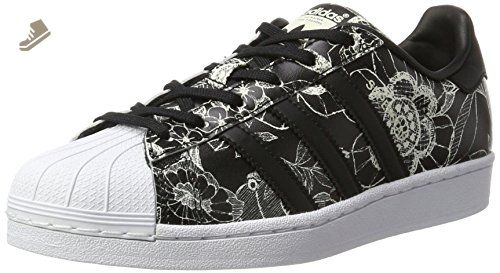 separation shoes 87724 ce393 adidas Superstar W Womens Trainers Black Floral - 6 UK ...