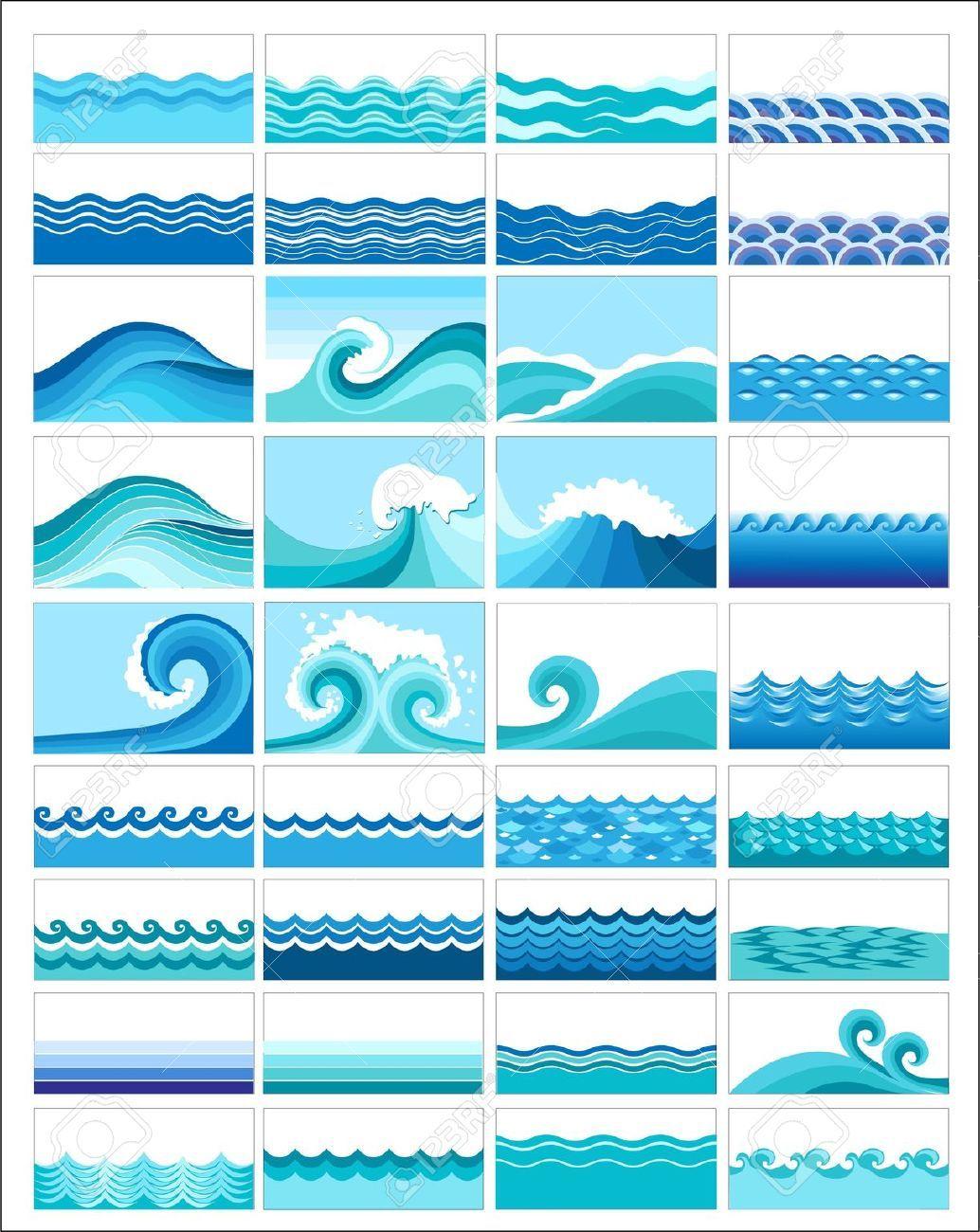 Olas Mar Pachwork En 2019 Dibujo Del Mar Arte Del Surf Y Mar