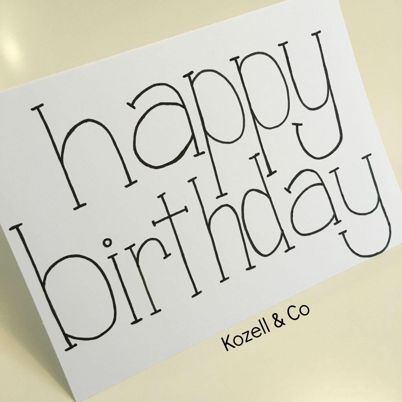 Hand Lettered Happy Birthday Card By KozellandCo On Etsy. Follow On Instagram @kozellandco
