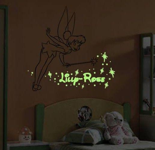 tinkerbell wall light | tinkerbell glow in the dark wall art | sammy