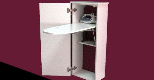 Mueble con tabla de planchar abatible utilidad de la for Mueble tabla planchar