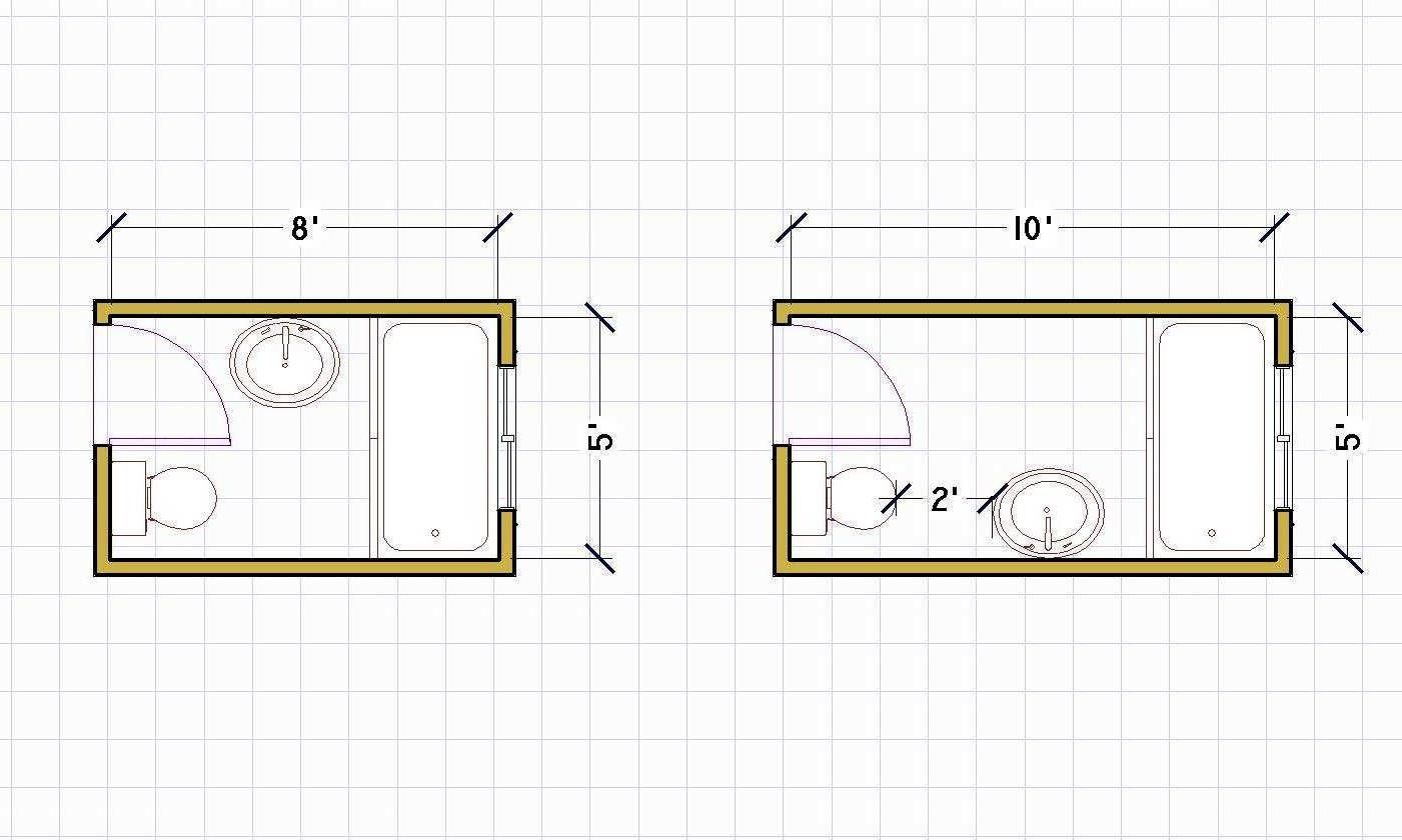 Small Bathroom Floor Plans 5 X 8