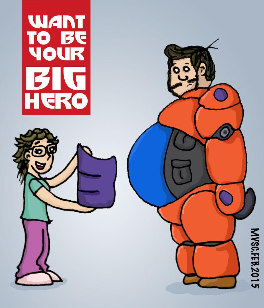 Penny y Mike al más puro estilo de Big Hero 6 como si fueran Baymax y Hiro Hamada. <3 Want to be your big hero :3