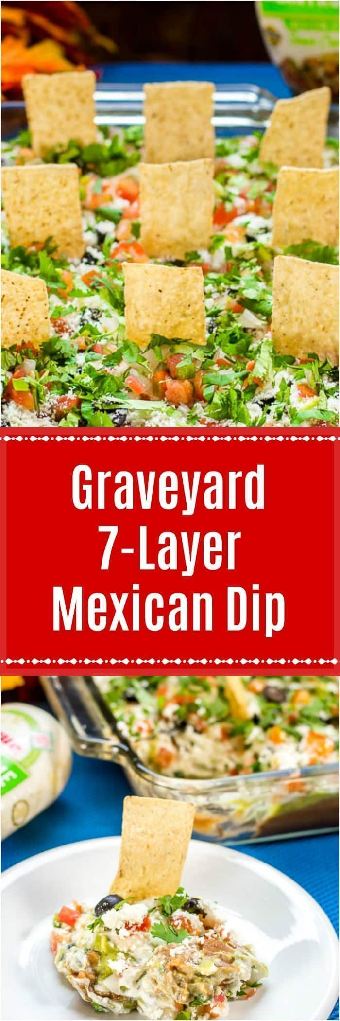 Graveyard 7-Layer Mexican Dip turns a traditional 7-Layer Dip into a fun, Hallow... - #7layerdip Graveyard 7-Layer Mexican Dip turns a traditional 7-Layer Dip into a fun, Hallow... - #7layerdip Graveyard 7-Layer Mexican Dip turns a traditional 7-Layer Dip into a fun, Hallow... - #7layerdip Graveyard 7-Layer Mexican Dip turns a traditional 7-Layer Dip into a fun, Hallow... - #7layerdip