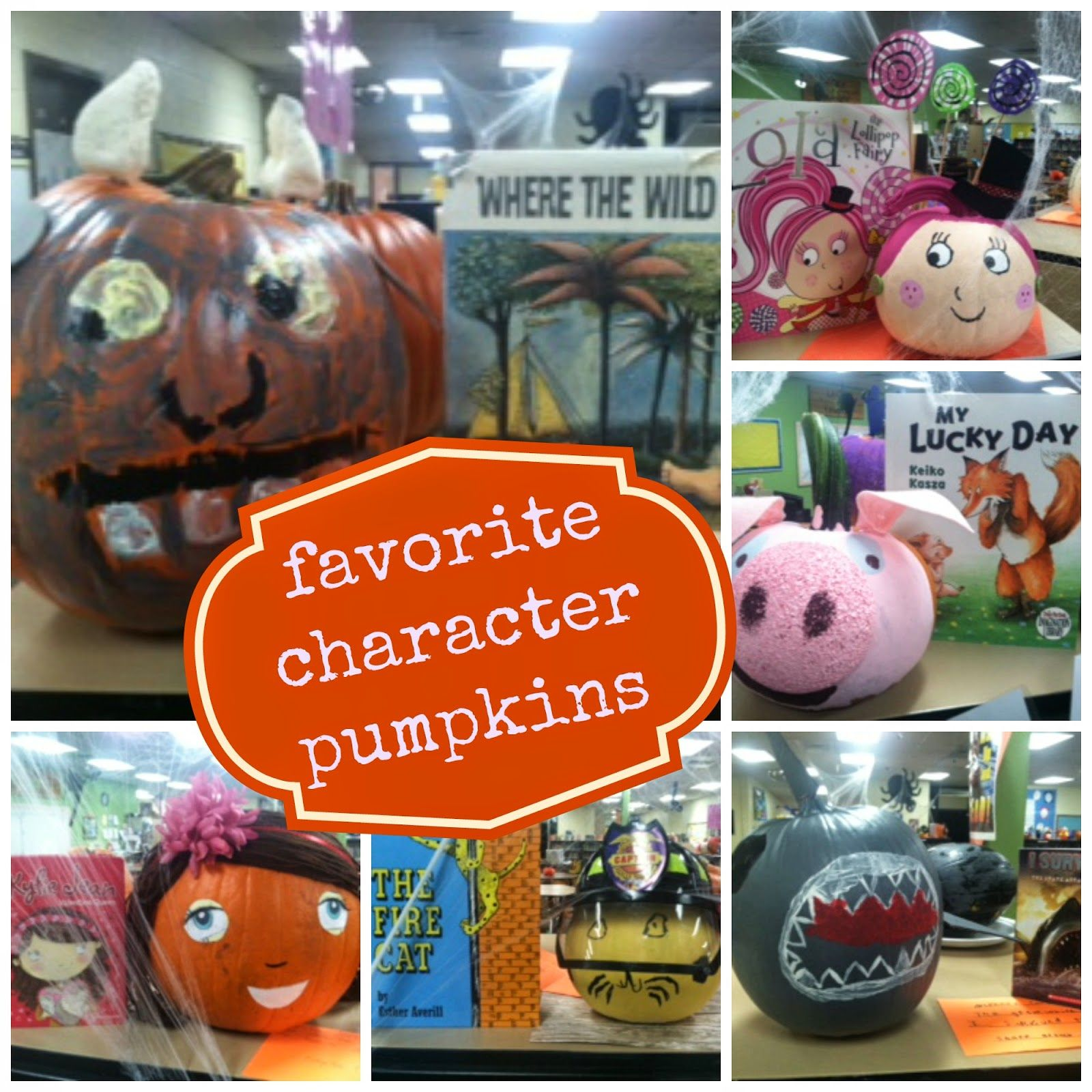 Cutest favorite book character pumpkins ever!! so many great ideas