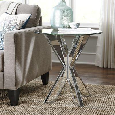 Simon X Mirrored End Table Base Living Room Pinterest