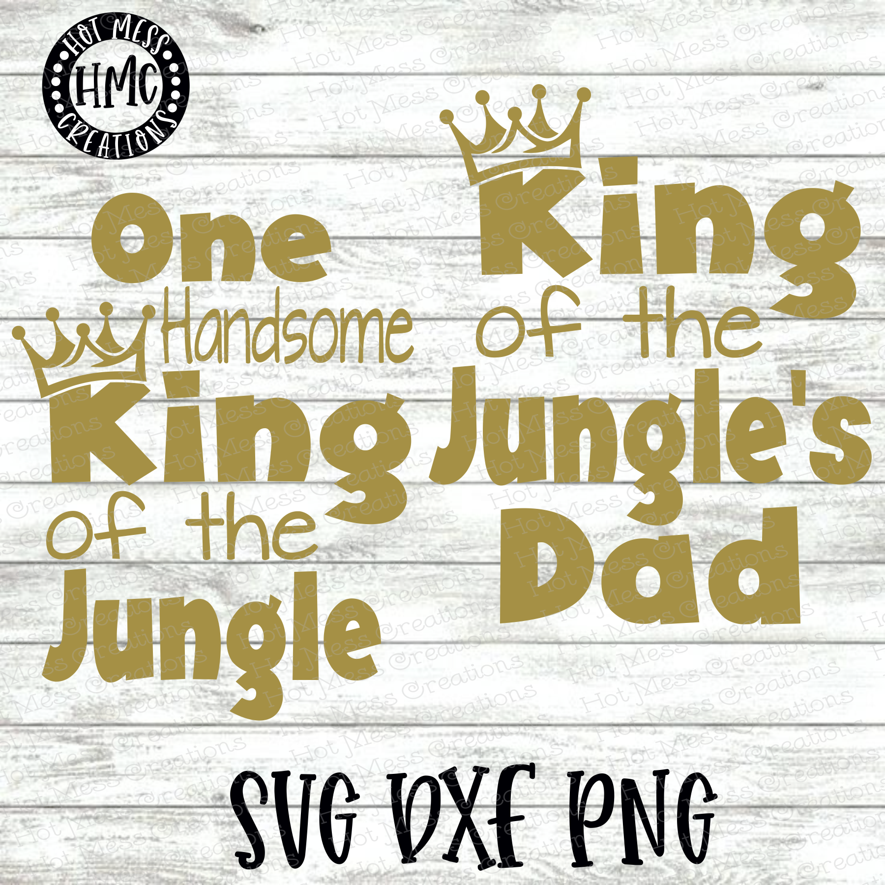 One Handsome King of the Jungle SVG DXF EPS | Birthday SVG