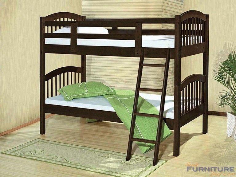 Acme Furniture Manville Twin Bunk Bed Espresso 37110b