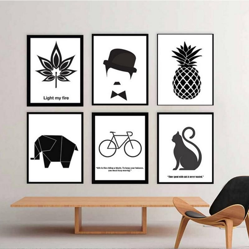 Simple Quotes Canvas Poster Black White Minimalist Wall Art Print Home Decor