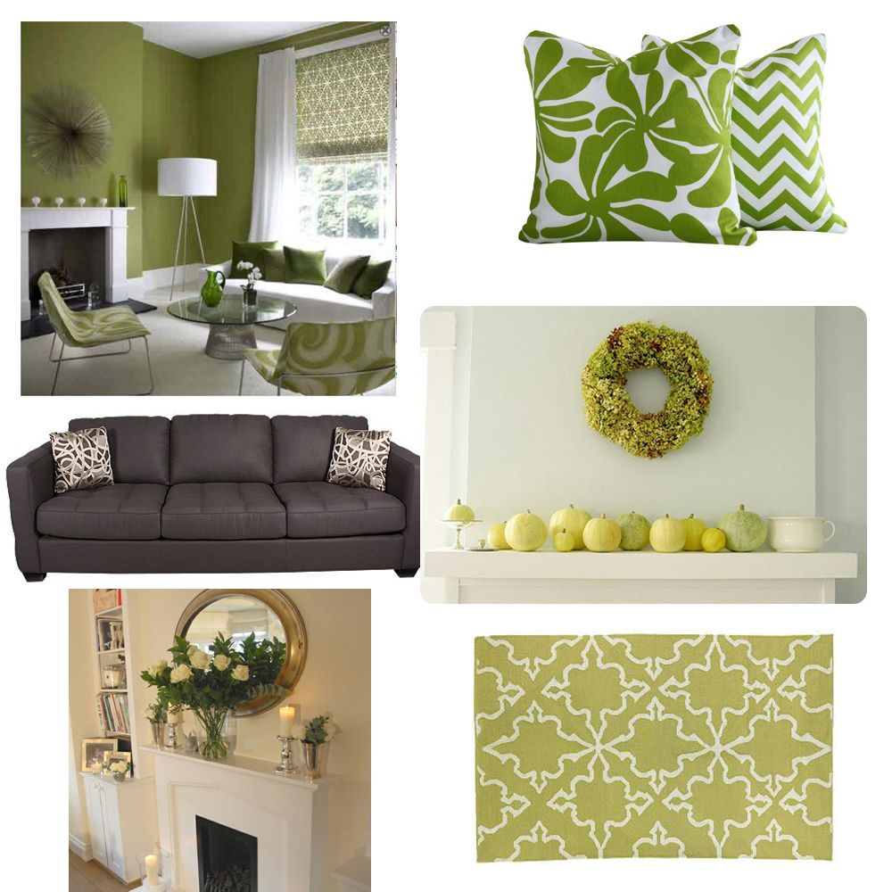 Green Grey Living Room Daccor Ideas 1000 Images About