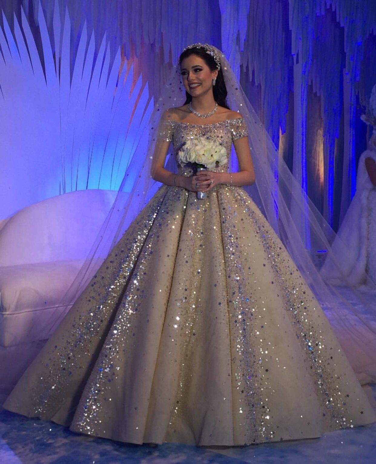 Zuhairmurad Fairytale Winterwonderland Sparkly Wedding Dress Evening Dresses For Weddings Gowns [ jpg ]