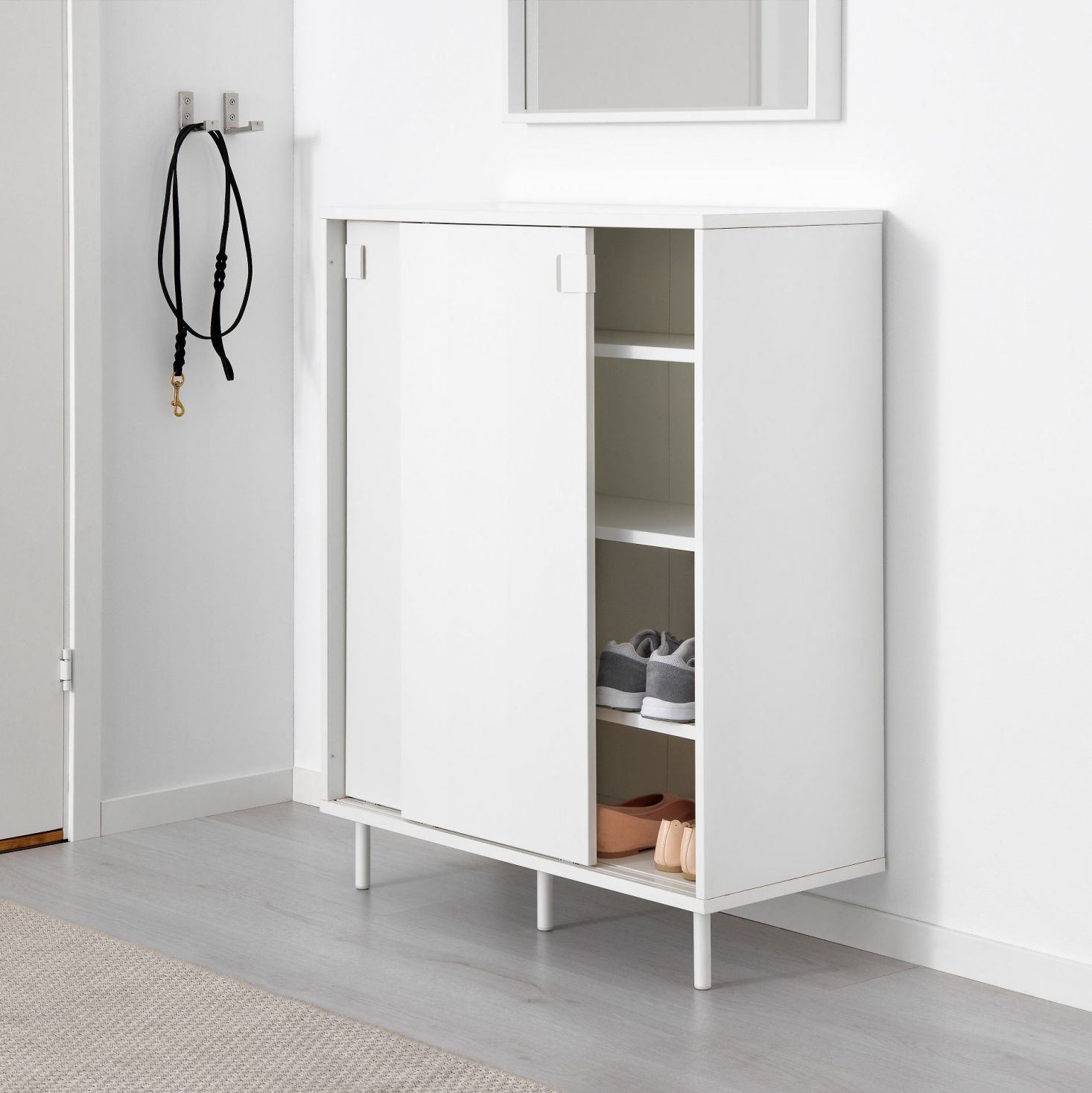 Ikea Entryway Storage Solutions For Minimalists On A Budget The Organized Home Ikea Shoe Storage Shoe Storage Cabinet Ikea Storage