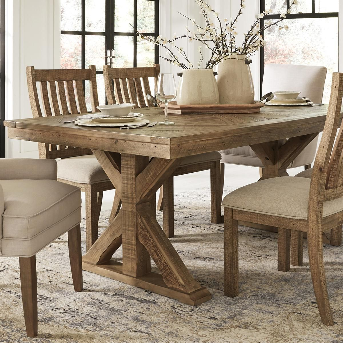 Signature Design By Ashley Grindleburg Rectangular Dining Room Table In Light Brown Table Rectangular Dining Room Table Rectangular Dining Set Pub Table Sets