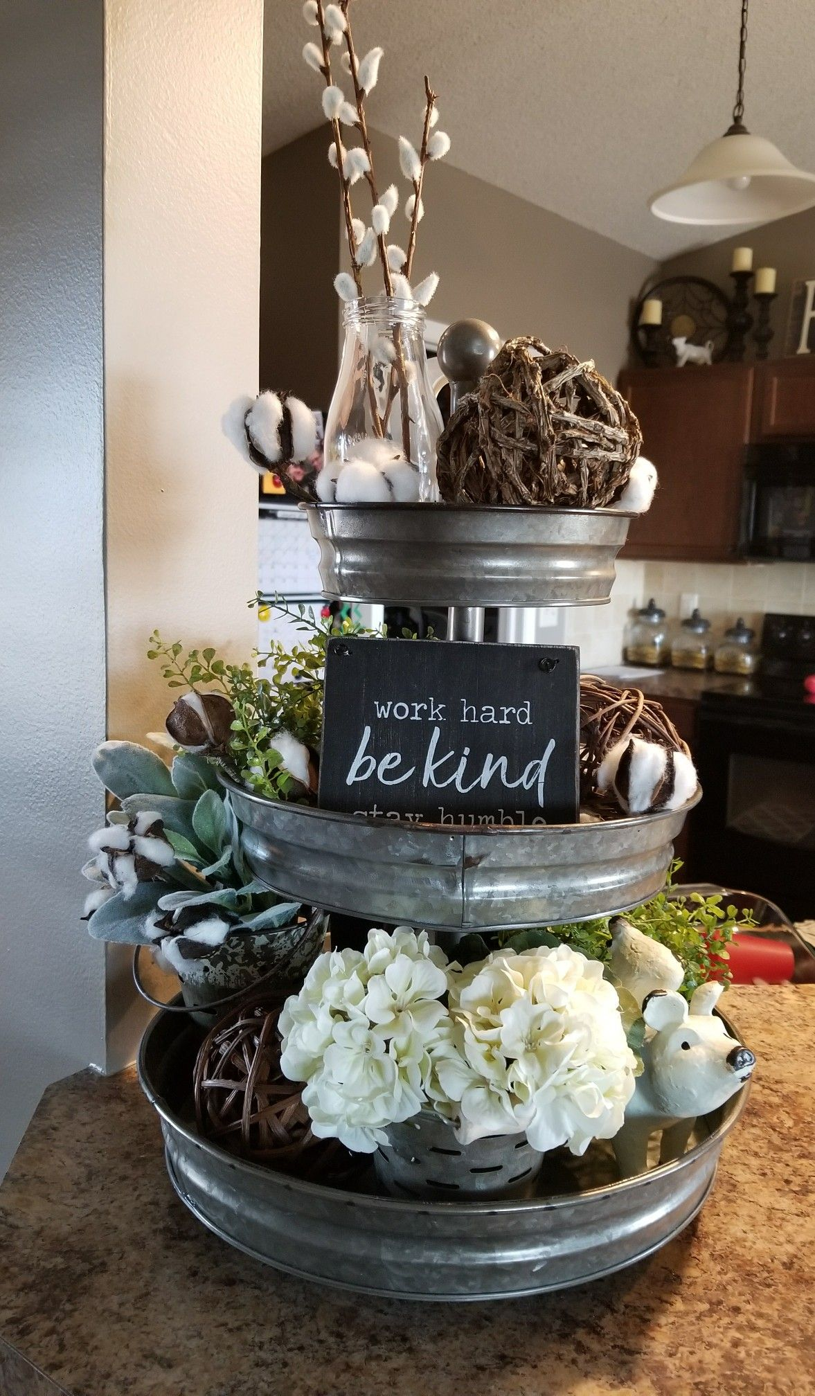 3 Home Decor Trends For Spring Brittany Stager: Farmhouse 3 Tier Stand Decor