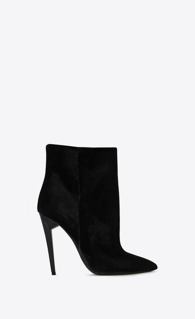 Saint Laurent Freja Woman Freja 105 Ankle Boot In Black