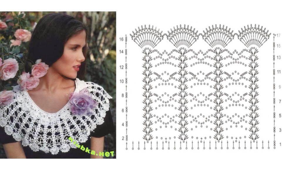 Excelente Crochet Patrón Encogimiento De Hombros Algodón Colección ...