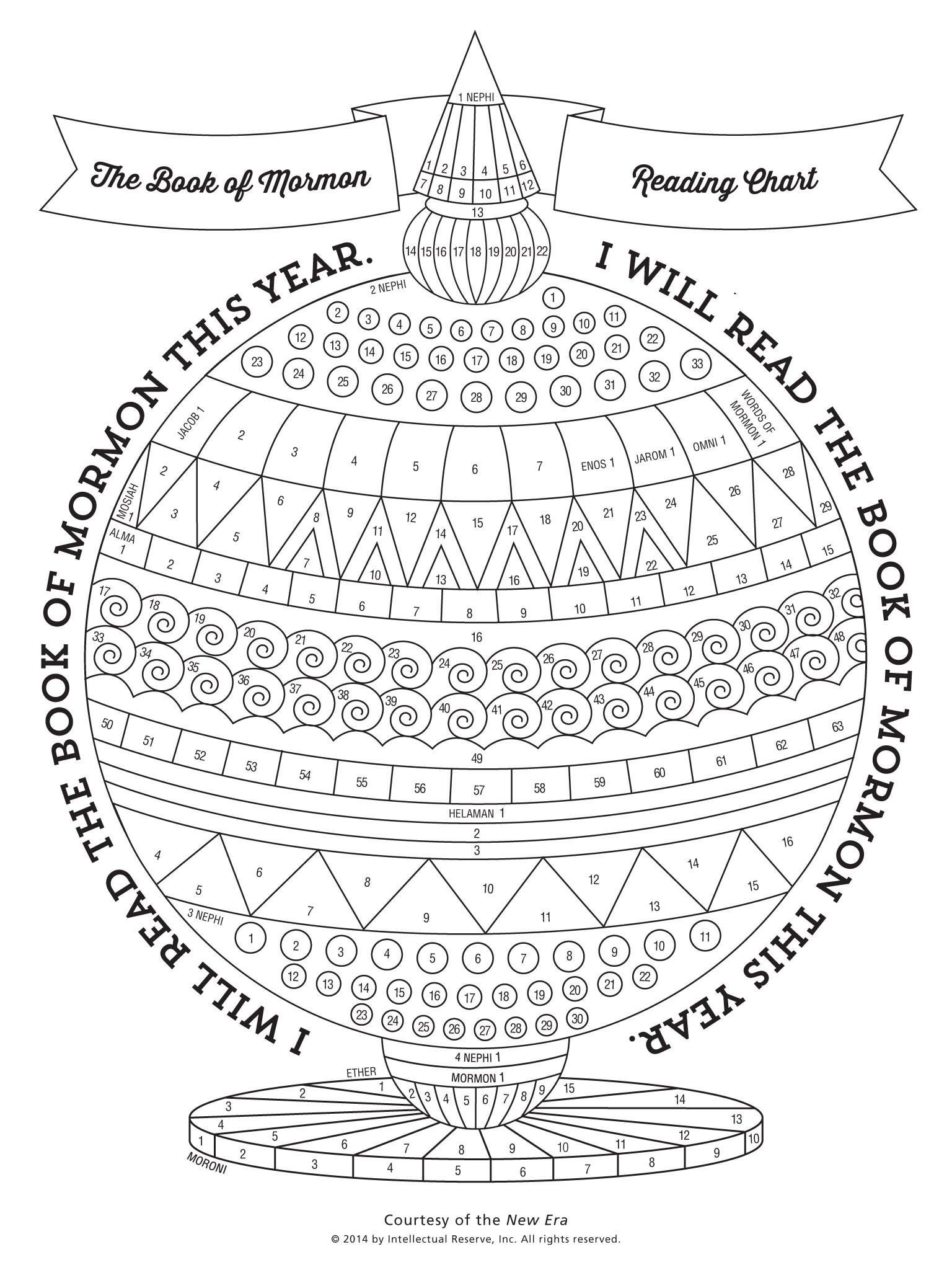 The Book of Mormon Reading Chart, by New Era | Scriptures ...