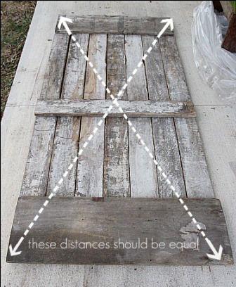 Simple et original la porte de grange coulissante Squares