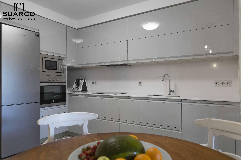 Cocina Moderna Gris Brillo Cocinas De Casa
