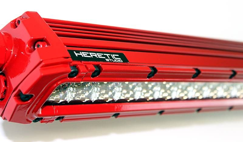 Heretic lite 30 inch led light bar in red with black bezel bolts heretic lite 30 inch led light bar in red with black bezel bolts available aloadofball Choice Image