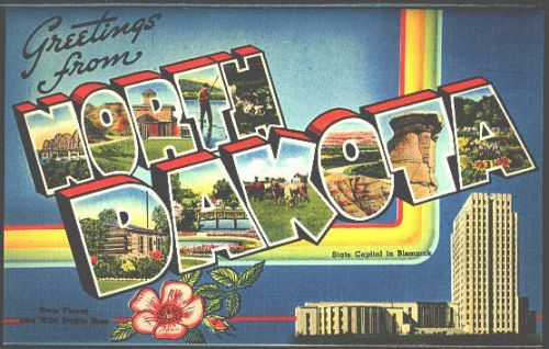 Letter Greetings Inspiration 1940S Large Letter Greetings From North Dakota State Vintage .