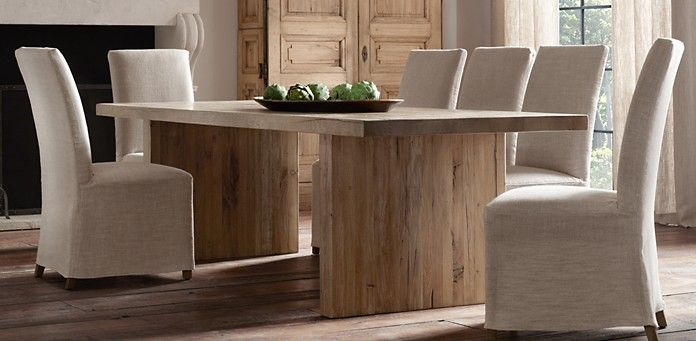 Reclaimed Russian Oak Plank Dining Table Rectangle | Restoration ...