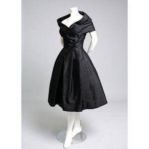 Vintage Christian Dior Paris Couture Cocktail Dress 1950's 50's ...