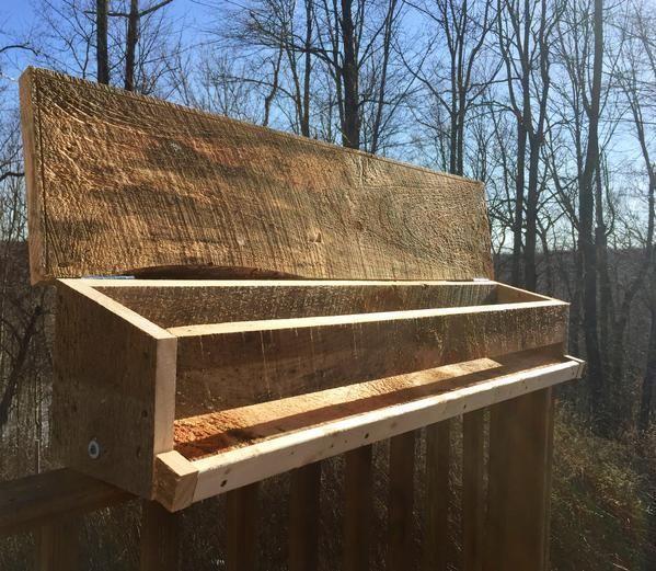 """""""The Buffet"""" - Deck Rail Bird Feeder   Large bird feeders ..."""
