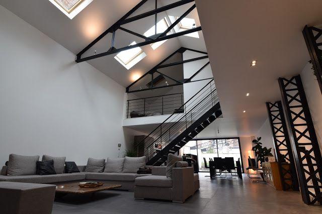 transformation d 39 un garage en loft a la madeleine nowoczesna stodo a pinterest. Black Bedroom Furniture Sets. Home Design Ideas