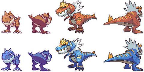 Tyrunt And Tyrantrum Regular And Shiny Pokemon Animals