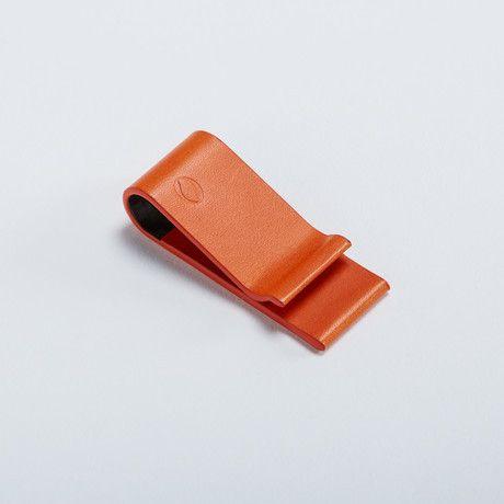 Carbon Fiber Moneyclip // Orange