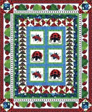The Grouchy Ladybug by Eric Carle.....in a quilt!!!! | quilting 3 ... : eric carle quilt kits - Adamdwight.com