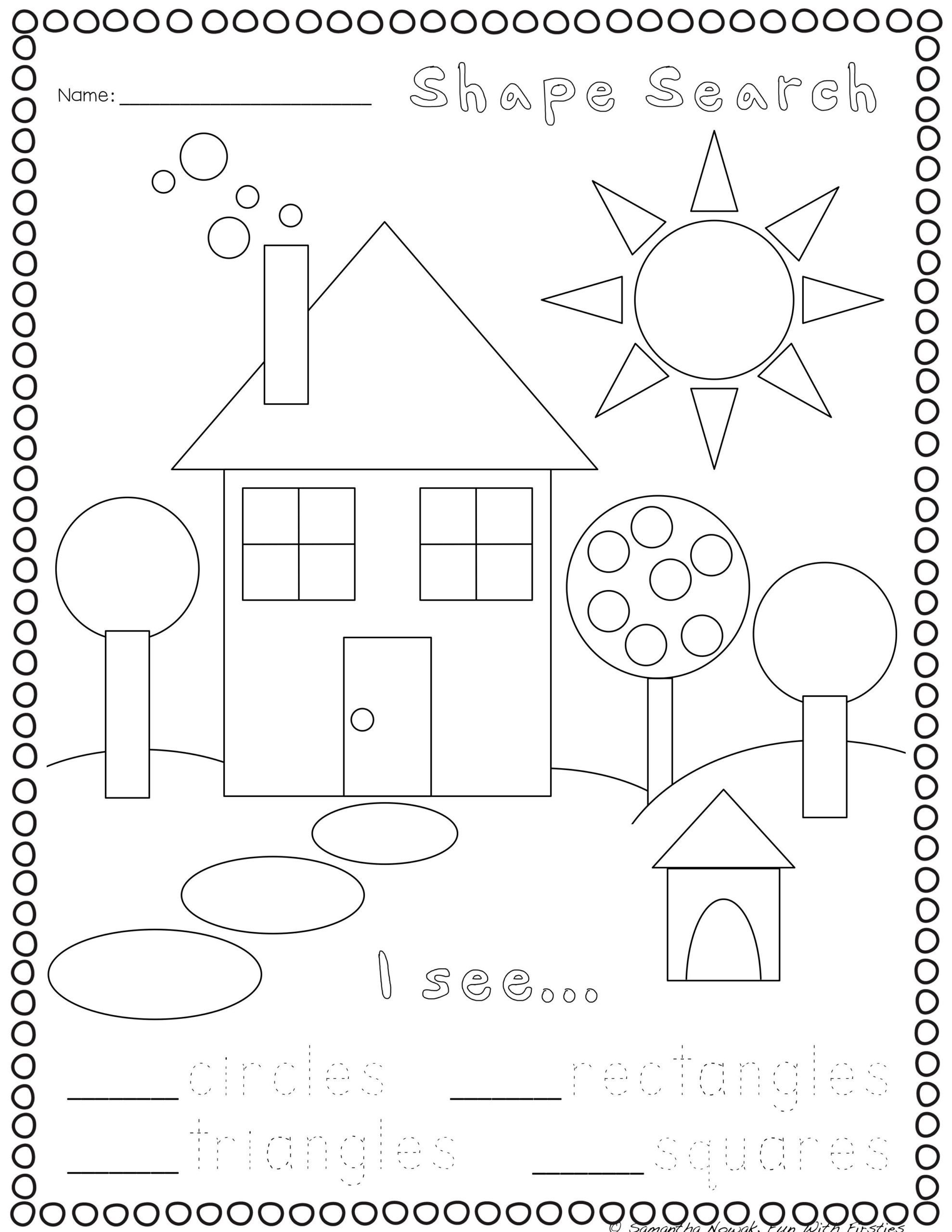 3d Shapes Worksheets Kindergarten In