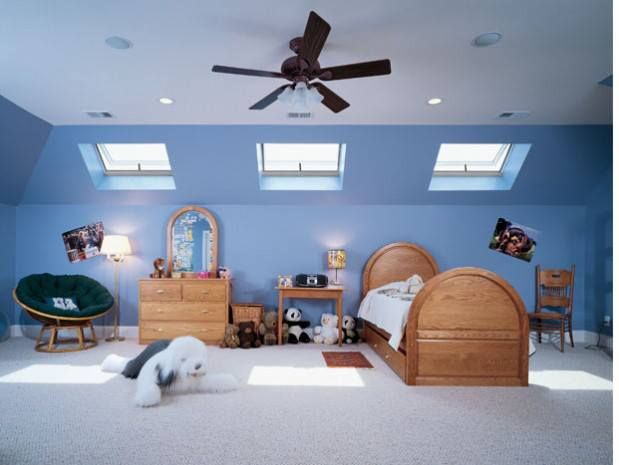 By opening up a low ceiling or a small room, skylights can ...