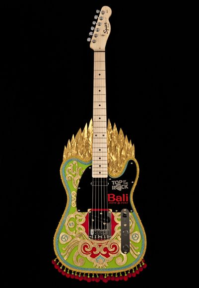 Top of the Rock Guitar Hard Rock Cafe Bali #hardrock DESIGN EXECUTION BY KEIRA GUIP SIXTUS