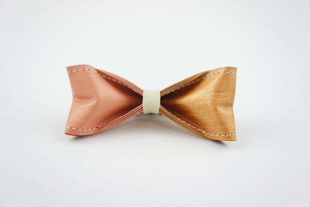 牛皮紙領結 - 粉香檳金  Paper Bow Tie - Champagne gold