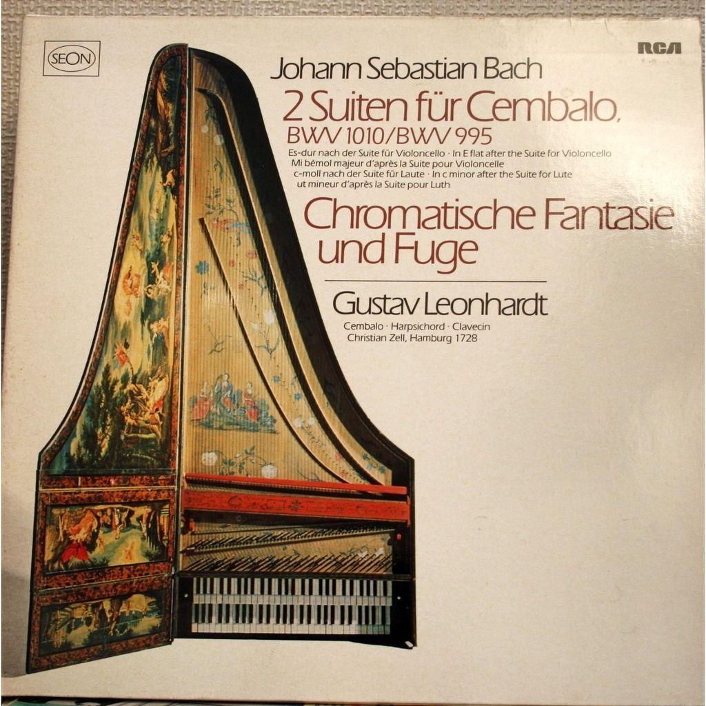 Bach 2 Suiten Für Cembalo Chromatische Fantasie Und Fugue by GUSTAV LEONHARDT, LP with chapoultepek69