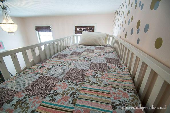 Pottery Barn Cottage Loft Bed Knock-Off | Playhouse loft ...