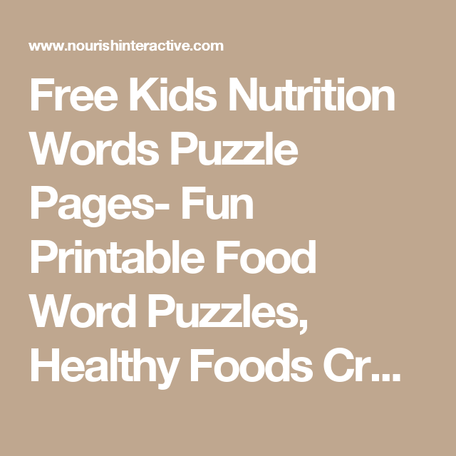 free kids nutrition words puzzle pages fun printable food word