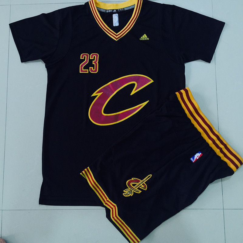 new product 4e3be f1120 Cavaliers #23 LeBron James Black 2016 final suits nba ...