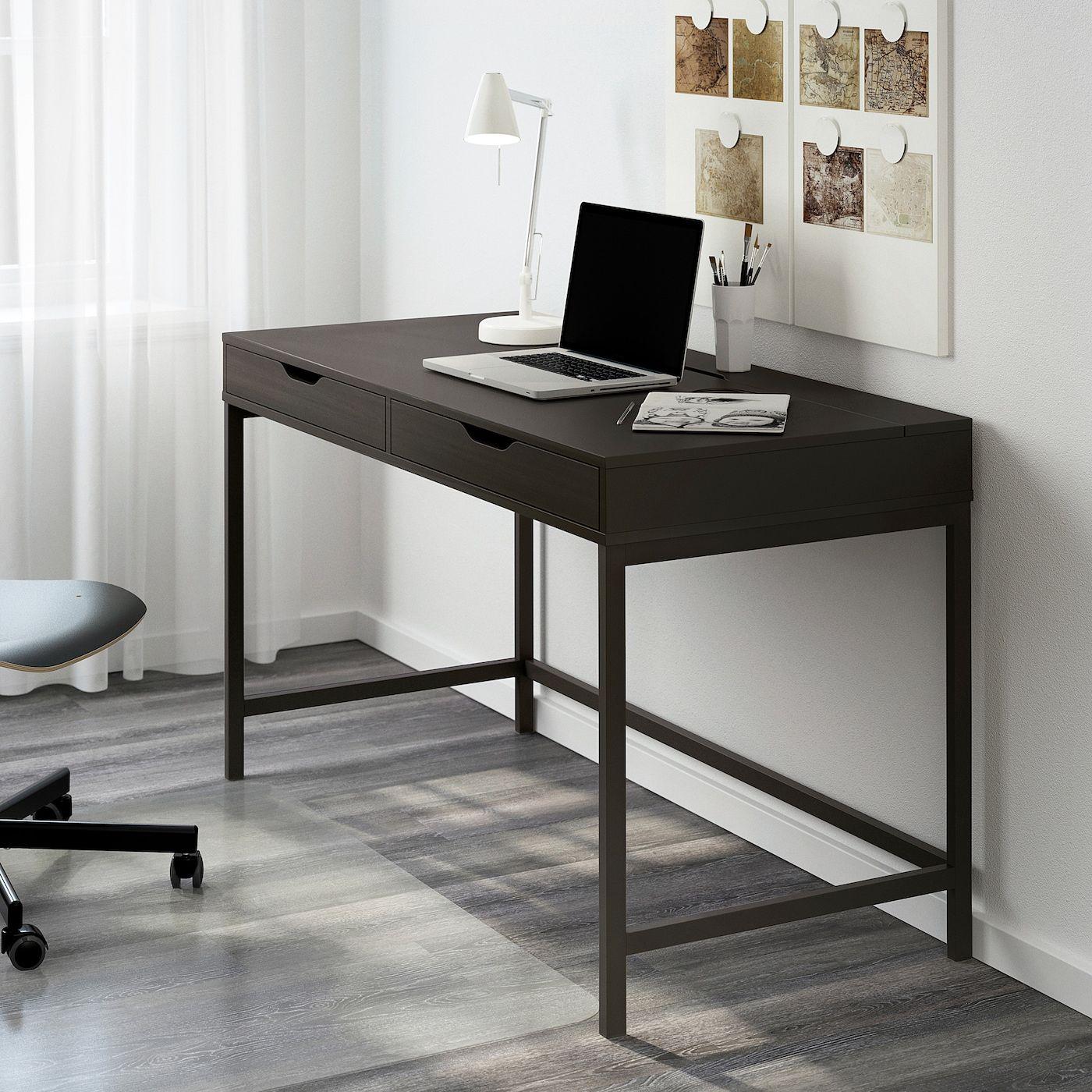 "ALEX Desk, blackbrown, 51 5/8x23 5/8"" IKEA Alex desk"
