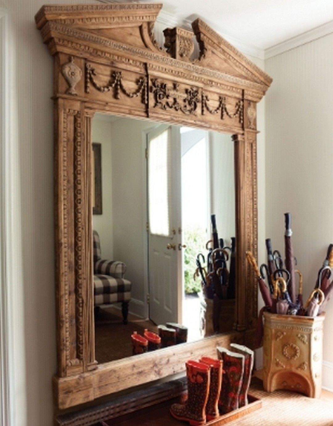 8 new mirror design ideas with wooden furniture in 2020 on ideas for decorating entryway contemporary wall mirrors id=20980