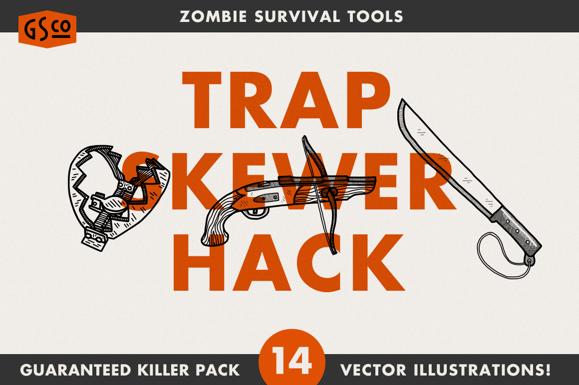 Zombie Survival Tools by Great Scott on @creativemarket