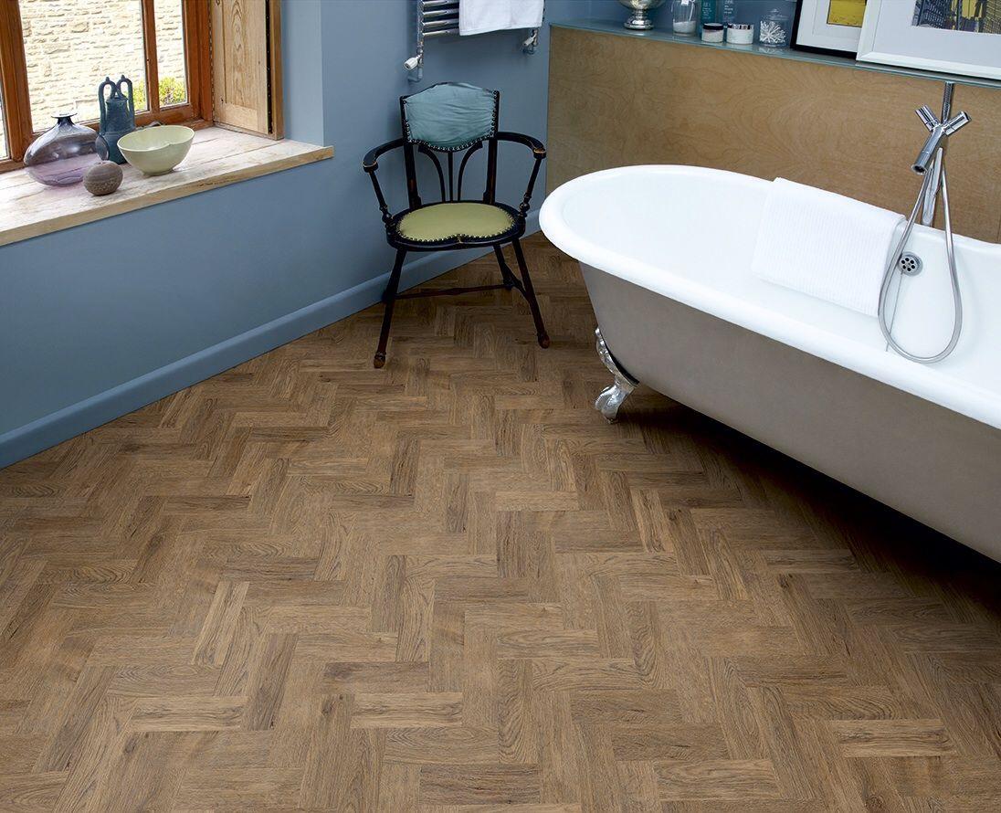 Bathroom warm grey Amtico flooring, Vinyl flooring